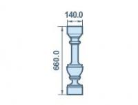 Размер балясины из пенопласта 140х660