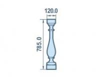 Размеры балясины из пенопласта 120х785