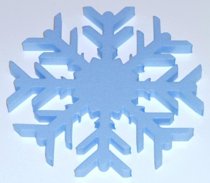 Снежинка 30х30х10см