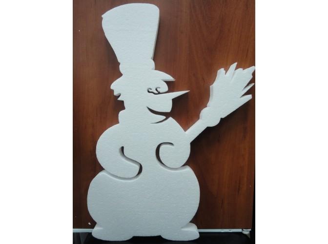 Снеговик из пенопласта 48х39х3см