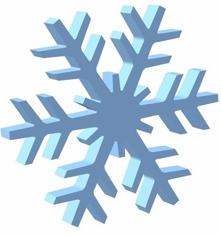 Снежинка 100х100х10см