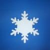 Снежинка которая была сделана из пенопласта