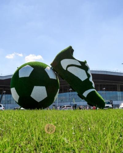 Инсталляция «Кроссовок + Мяч»