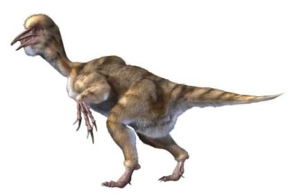 Большая скульптура динозавра Бэйпяозавр