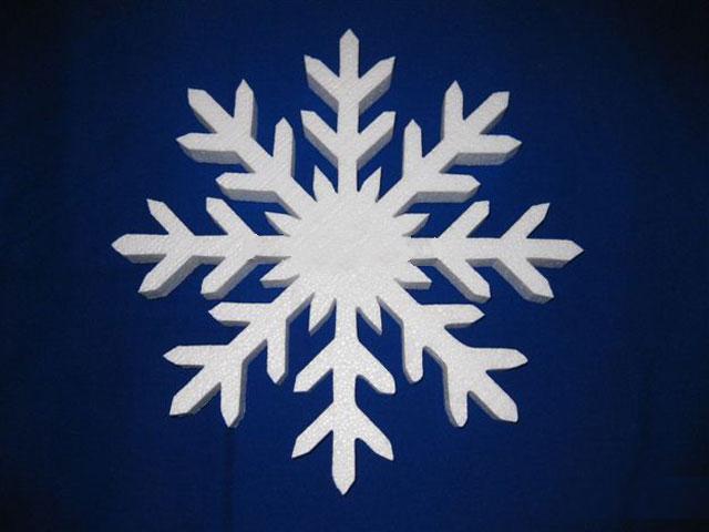 Снежинка 20х20х3см