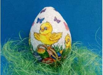 Пасхальное яйцо из пенопласта