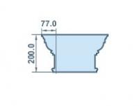 Размеры капителя 77х200