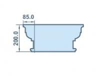 размеры капителя 85х200