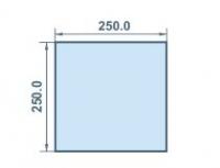 Размер колоны 250х250