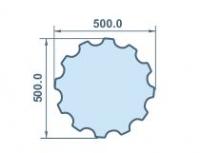 Размеры колоны из пенопласта 500х500