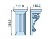 Размеры кронштейна 195х338