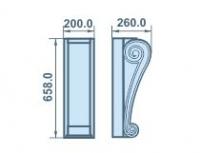 Размеры кронштейна 200х658