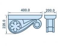 Размеры кронштейна из пенопласта 400х220