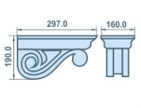 Размеры качественного кронштейна из пенопласта 297х190