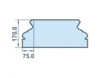 Размеры капителя хорошего качества 75х170