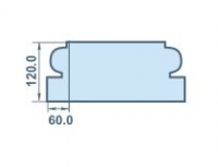 Размеры заказного капителя 60х120