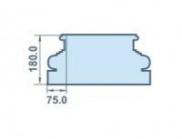 Размеры капителя на колонну 75х180