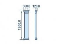 Размеры палистры 360х1900