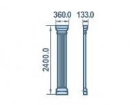 Размеры пилсятры пенопластовой 360х2400