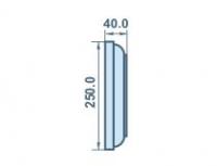 размеры 40х250