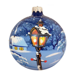Большой новогодний шар из пенопласта с рисунком лампы