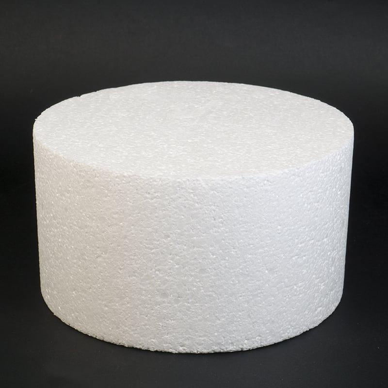 Фальш ярус для торта, Диаметр 18 см, высота 10 см (пенопласт)