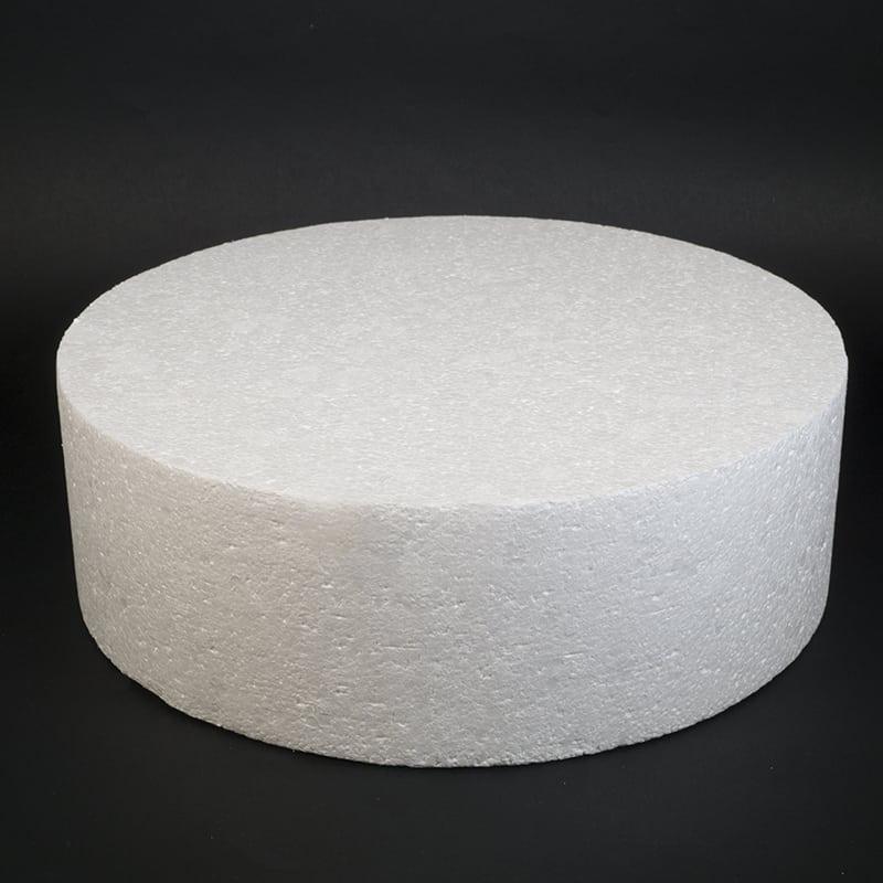 Фальш ярус для торта, Диаметр 30 см, высота 10 см (пенопласт)
