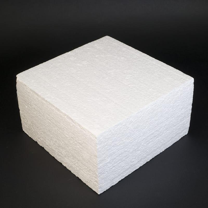Фальш ярус для торта, Квадрат 18 см, высота 10 см (пенопласт)