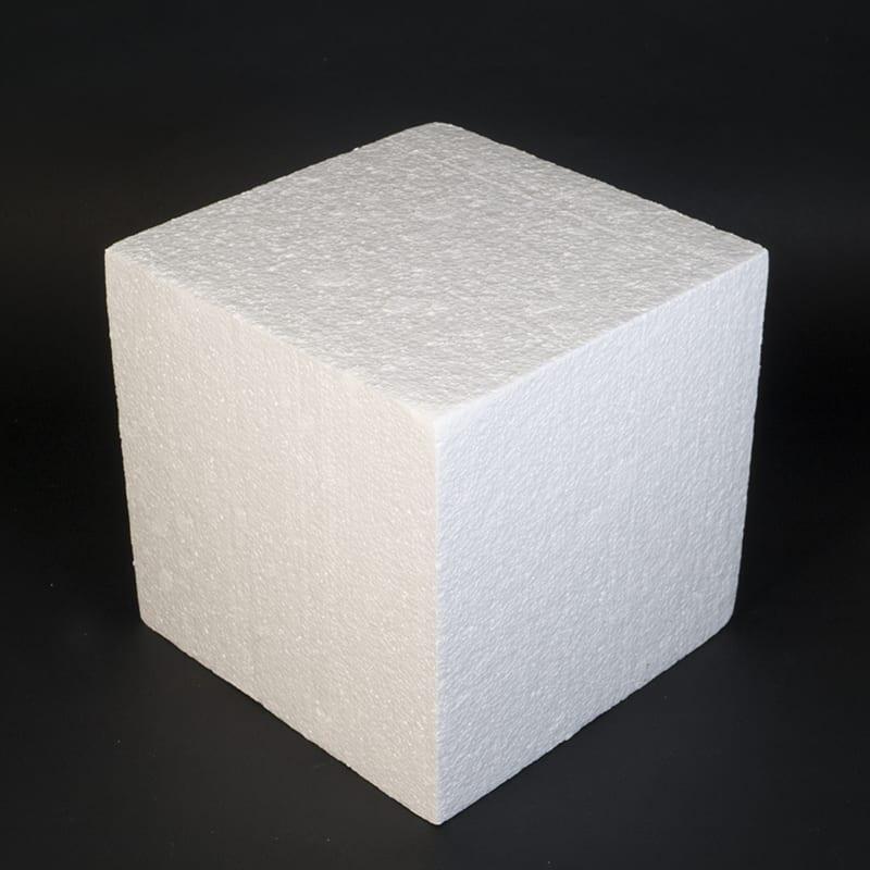 Фальш ярус для торта, Квадрат 18 см, высота 20 см (пенопласт)
